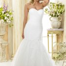 Custom made A-line strapless wedding dresses 2011 AD007