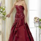 Custom made A-line Red wedding dresses 2011 AD008