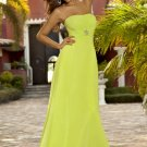Long yellow chiffon bridesmaid/ evening/ formal/ wedding guest dresses AD4074