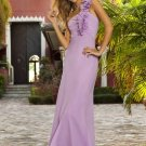 Long purple chiffon bridesmaid/ evening/ formal/ wedding guest dresses AD4072