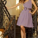 Short purple bridesmaid/ cocktail/ formal/ wedding guest dresses AD4056