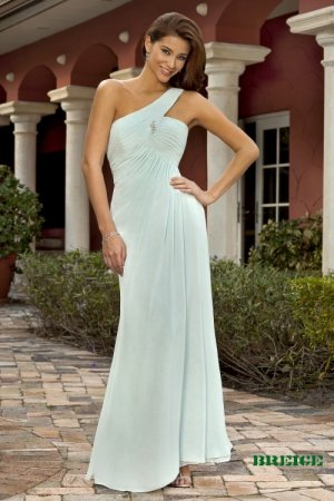 Long One Shoulder Evening / Bridesmaid/ formal/ wedding guest dresses AD874