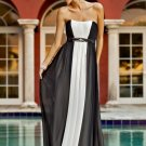 Long Black White Evening / Bridesmaid/ formal/ wedding guest dresses AD872