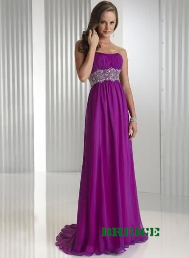 Purple Long Evening Dresses Prom Formal Gowns 03