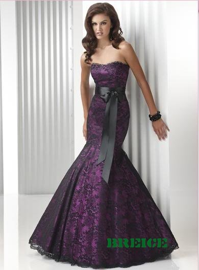 Elegant Long Lace Evening Dresses Prom Formal Gowns 17