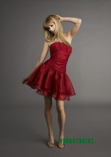 Red Short Evening Dresses Prom Party Gowns 19
