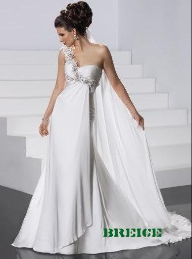 Elegant Chiffon Wedding Dress Bridal Gowns 25