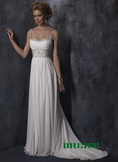 Elegant Chiffon Wedding Dress Bridal Gowns 26