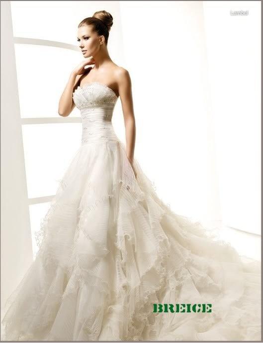 Elegant A-Line Wedding Dress Bridal Gowns 31