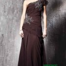 One Shoulder Long Evening Dresses Prom Party Formal Gowns J07