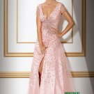 Pink beaded Short sleeves Evening Dresses Prom Party Formal Gowns J21