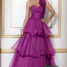Purple One Shoulder Evening Dresses Prom Party Formal Gowns Ball Gowns J23