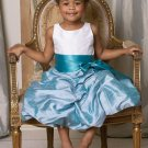 Ball Gown Scoop Floor-length Taffeta Flower Girl Dress W008