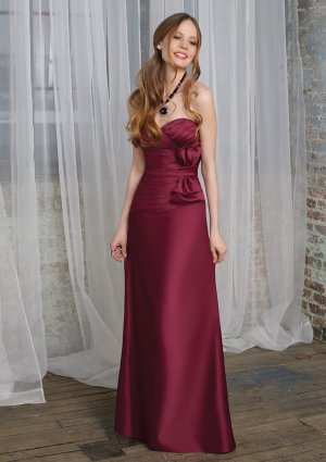 A-line Sweetheart Floor-length Satin Bridesmaid Dress Evening Dress M02