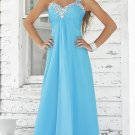 Plus Size One Shoulder Blue Evening Dresses Prom Party Formal Bridal Gowns P14