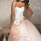 Elegant A-Line Strapless Long Evening Dresses Prom Party Formal Bridal Ball Gowns P002