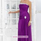 Sheath/Column Purple Strapless Long Evening Dresses Prom Party Formal Bridal GownsP019