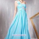 A-line Chiffon One Shoulder Floor-length Evening Dresses Prom Party Formal Bridal Gowns P035