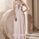 Elegant A-line Chiffon Floor-length Evening Dresses Prom Party Formal Bridal Gowns P040