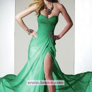Sheath/Column Sweetheart Long Evening Dresses Prom Party Formal Bridal Gowns P056