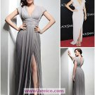 Chiffon Sheath/ Column V-neck Sweep/Brush Train Evening Prom Dress inspired by Mila Kunis L04