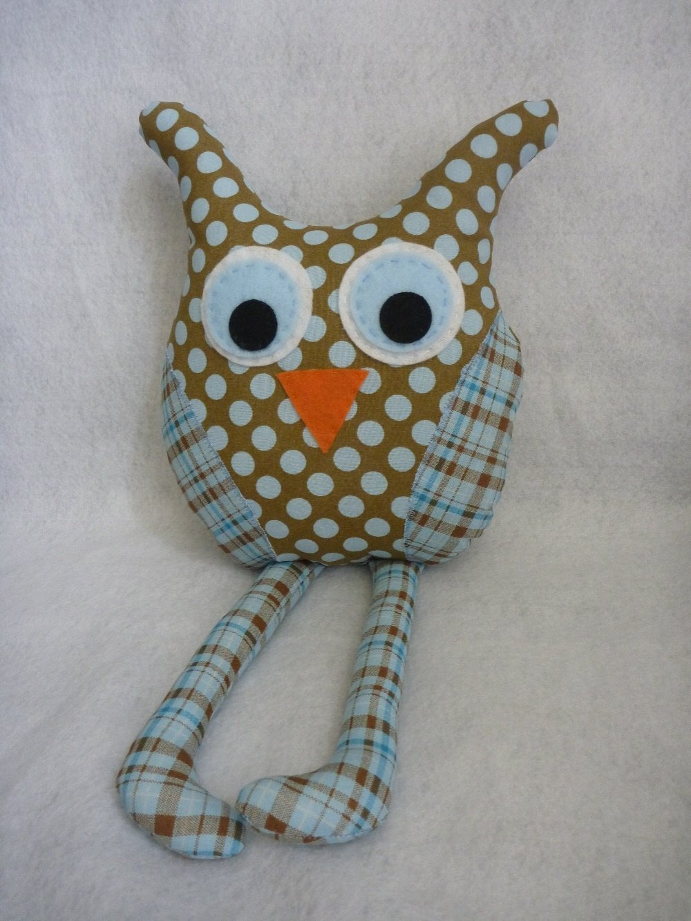 Owl Pillow for Baby Boy Nursery Decor