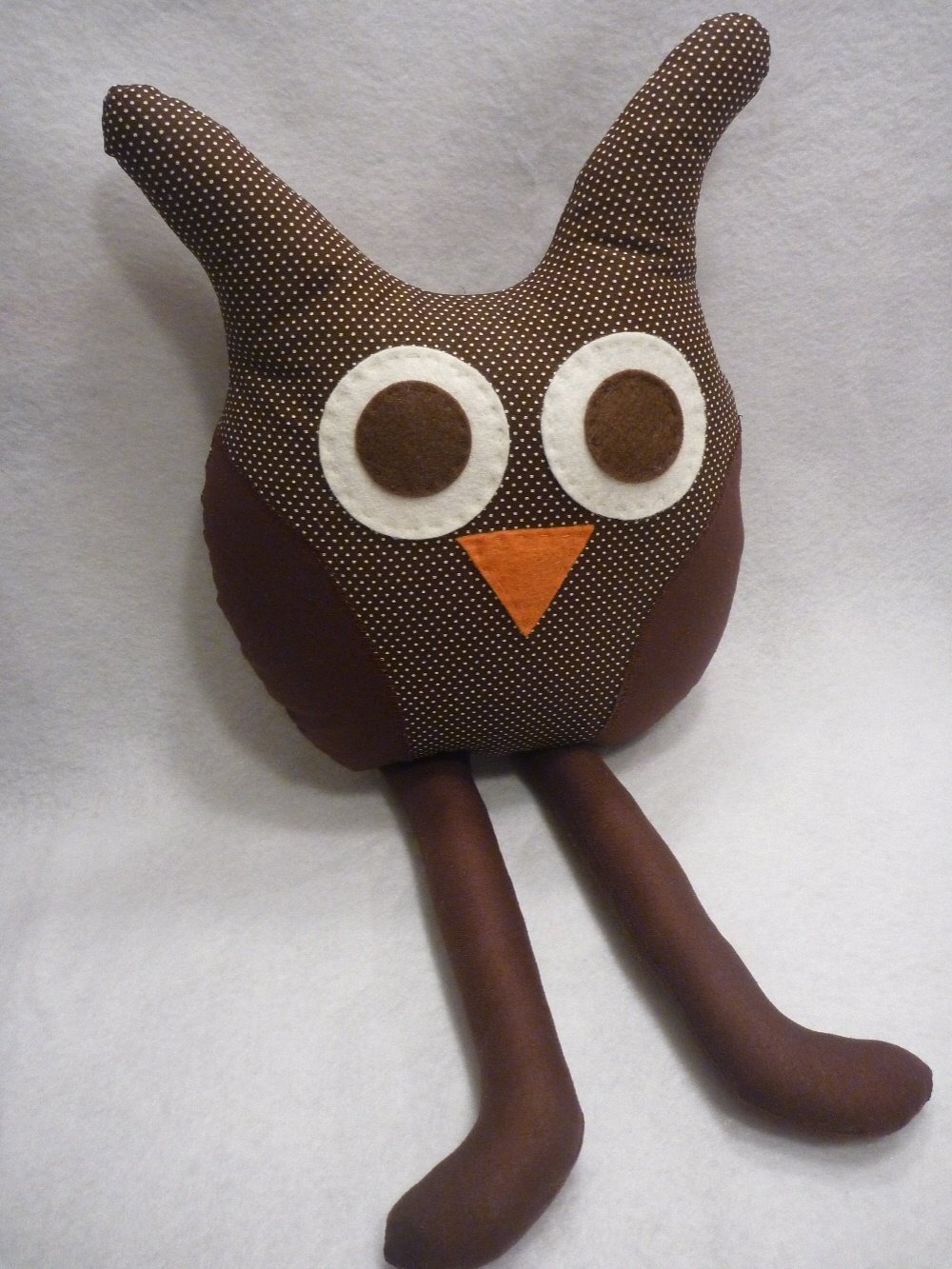 Owl Nursery Pillow In Neutral Chocolate Brown for Baby Nursery