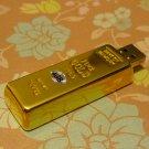 4GB GLITTERING GOLDBAR Flash Memory Stick Thumb Drive