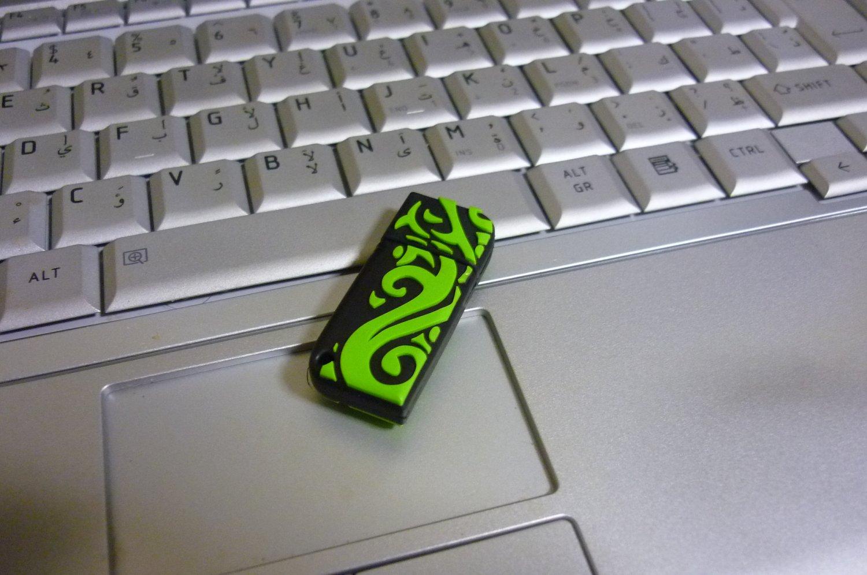 4GB COOL TRIBAL GREEN Flash Memory Stick Thumb Drive
