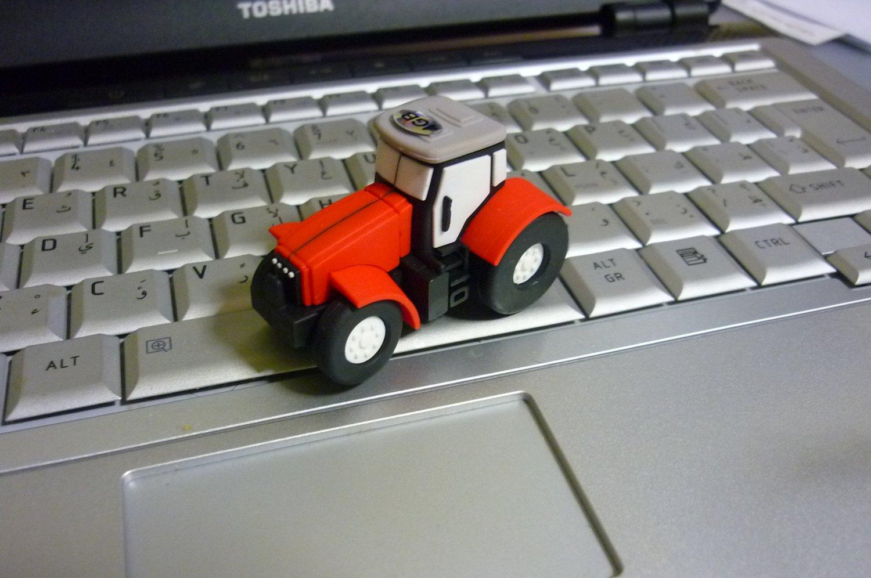 4GB CUTE RED TRUCK Flash Memory Stick Thumb Drive