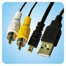 Nikon Coolpix 2100 3100 3700 4200 4800 UC-E6 AV Cable