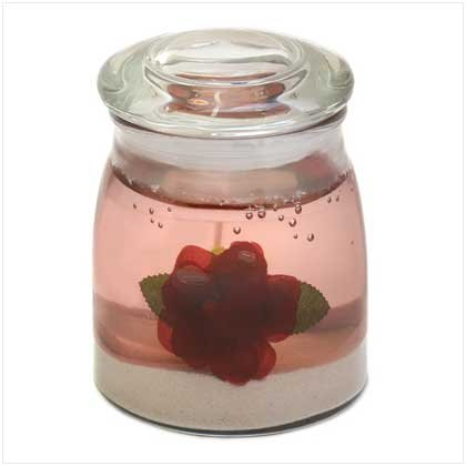 RED ROSE GEL CANDLE
