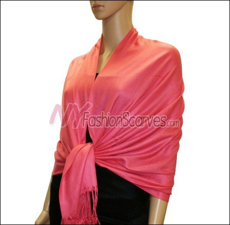 Silky Soft Solid Pashmina <br>Hot Pink