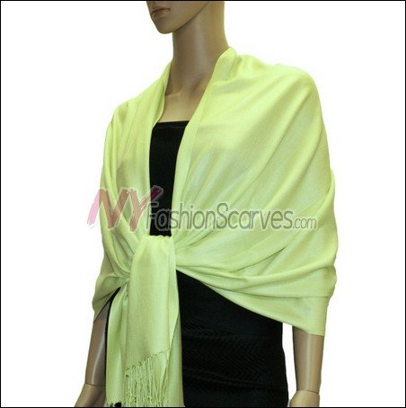 Silky Soft Solid Pashmina <br>Light Green
