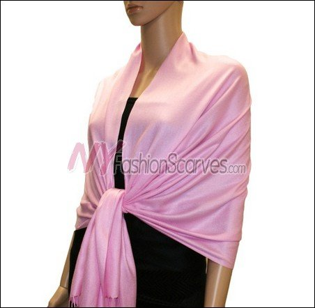 Silky Soft Solid Pashmina <br>Light Orchid