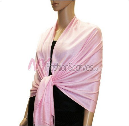 Silky Soft Solid Pashmina <br>Light Pink