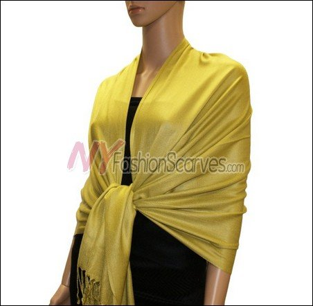 Silky Soft Solid Pashmina <br>Golden Rod