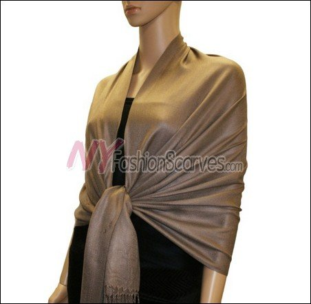 Silky Soft Solid Pashmina <br>Chocolate