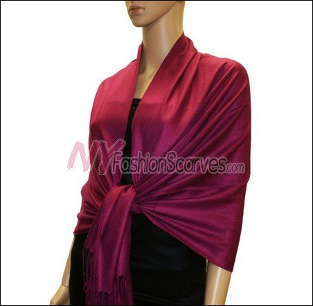 Silky Soft Solid Pashmina <br>Wine