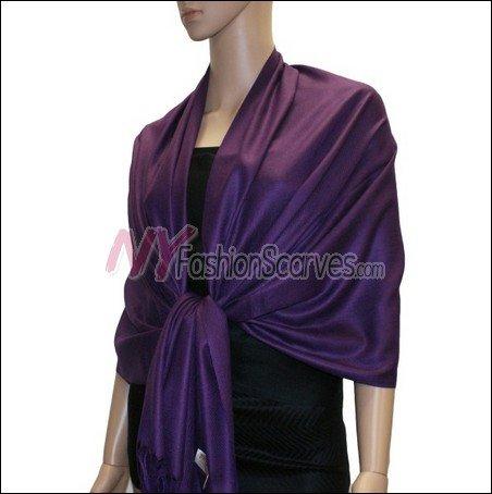 Silky Soft Solid Pashmina <br>Indigo