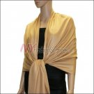 Silky Soft Solid Pashmina <br>Light Brown