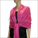 Silky Soft Solid Pashmina <br>Fuchsia