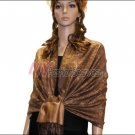 Paisley Jacquard Pashmina<br>Light Brown