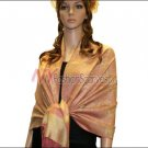 Paisley Jacquard Pashmina<br>Orange w/ Yellow