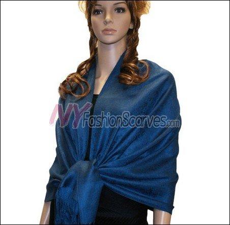 Paisley Jacquard Pashmina<br>Royal Blue