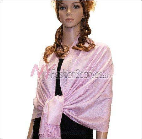 Paisley Jacquard Pashmina<br>Light Pink