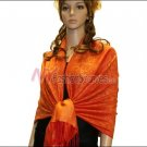 Paisley Jacquard Pashmina<br>Orange
