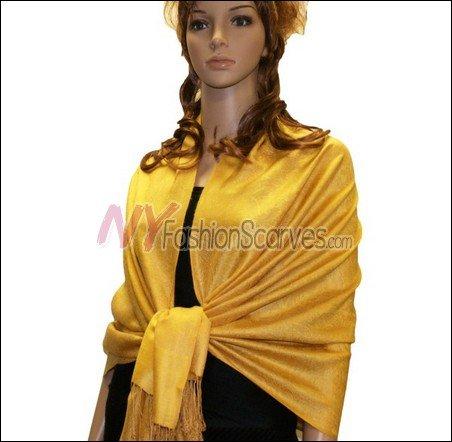 Paisley Jacquard Pashmina<br>Yellow