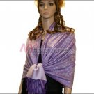 Paisley Jacquard Pashmina<br>Purple w/ Grey