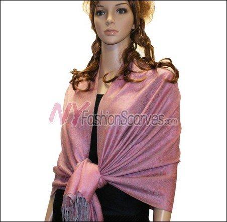 Paisley Jacquard Pashmina<br>Orchid Pink